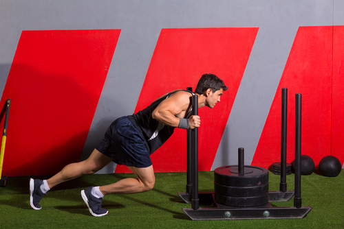 Prowler Push fat loss hiit