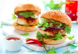 Turkey Wasabi Burgers